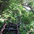 日本岳のコルから鉄梯子ゾーン