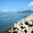 鐘崎からの地島と大島