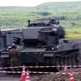 87式自走高射機関砲も展示準備
