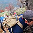 富士見岩までのラストスパート