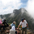 中岳山頂からの阿弥陀岳