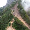 阿弥陀岳の難所