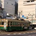 旧広島市民球場前を走る路面電車