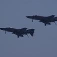 新田原のF-4EJ改がフライバイ