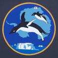 南極の部隊マークはペンギン