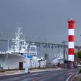 境水道大橋と台場の灯台