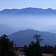 朝靄の木曽谷