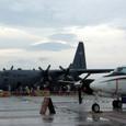 C-12とC-130の大小の輸送機