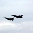 航過飛行のF-2が離陸