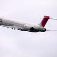 MD90が航空祭の途中に出発よ