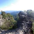 大砲岩への道