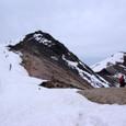 剣ヶ峰は雪が無いね