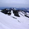 大雪渓への滑降ルート