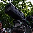 テレビカメラの上のアクションカム