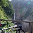 称名滝と自転車