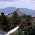 大仏殿と生駒山