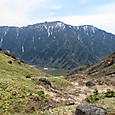 中尾峠からの霞沢岳