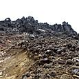 焼岳北峰の直下