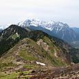 中尾峠から穂高連峰への稜線