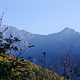 穂高連峰のモルゲンロート