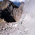 噴気口と噴火口