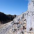 溶岩ドーム北峰トラバース