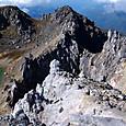 北峰山頂から噴火口