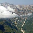 笠ヶ岳に雲が近づいてきてるゾ